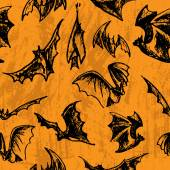 Halloween seamless bats — Stock vektor