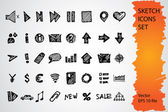 Sketch icon set — Stock Vector