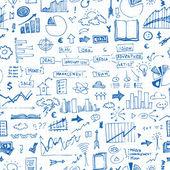 Business doodles pattern — Stock Vector