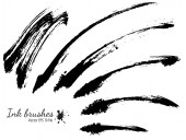 Collection of ink brushes — Stockvektor