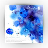 Watercolor abstract banner — Stock Vector