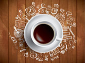 Coffee concept - doodles — Stock Vector