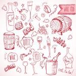 Wine sketch  doodles — Stock Vector #62462713