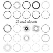 Set of circle elements — Wektor stockowy