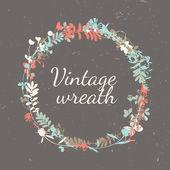 Floral Vintage Frame - wreath — Stockvektor