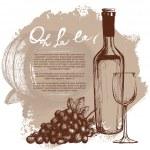 Wine bottle illustration — Stock Vector #71166131