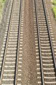 Railroad background — Stock Photo