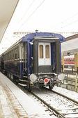 Passenger train car stationed — Stock Photo