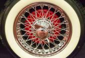 Car wheel steel spokes — Stock Photo