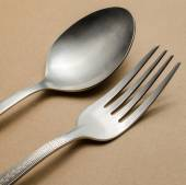 Fork and spoon — Stock Photo
