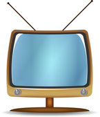 Vector illustration of retro TV — Stock Vector