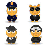 Police and detectives, vector illustration.vector set — Stockvektor