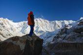 Trekking in Annapurana Base Camp ,Nepal. — Stock Photo