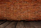 Old Room With Brick Wall. — Stock Photo