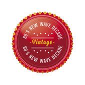 80s Vintage, Retro style badge — Stock Vector