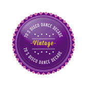 70s Vintage, Retro style badge — Vector de stock