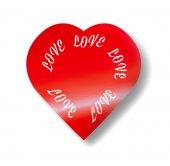 Coração dos namorados vermelha com texto — Fotografia Stock