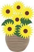 Sunflowers - illustration — Stock Photo