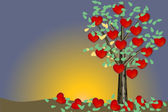 Valentine tree - illustration — Stock Photo