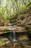 The waterfall in the Lower Dells — Stock Photo