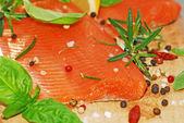 Filet de saumon frais — Photo