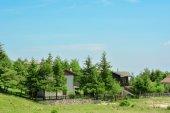 Landscape Italian village  in the mountains — Zdjęcie stockowe