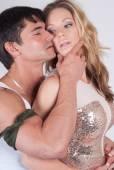 Seductive couple — Stock Photo