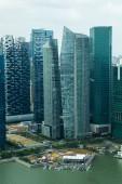 Skyscrapers in Singapore downtown — Foto de Stock