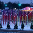 Multicolored decoration in Moscow central park — Stock Photo #58197873