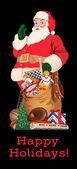 Santa circa 1952 — Stock Vector