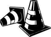 Traffic cones — Stock Vector