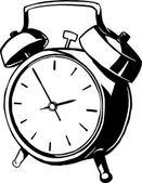 Çan ile klasik çalar saat — Stok Vektör