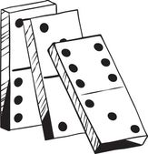 Leaning dominoes — Stock Vector
