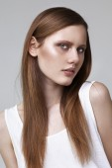 Portrait of high fashion model on white background. — Stock Photo