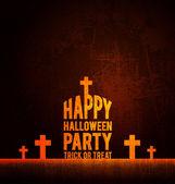 счастливый хэллоуин партии плакат — Cтоковый вектор