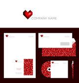 Design of corporate identity templates — Stock vektor