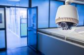 CCTV or surveillance operating in office building — Stock Photo