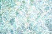 Texture of water surface in swimming pool — Stock Photo