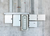 Electrical switch gear and circuit breakers — Stock Photo