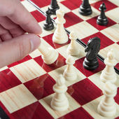 Chess game competition on decision making in game problem solving — Photo