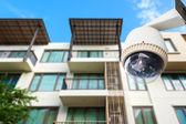 Telecamera cctv o sorveglianza operano con appartamento in s — Foto Stock