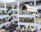 CCTV or surveillance Camera Operating inside department store — Stock Photo