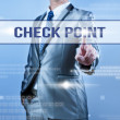 Businessman making decision on check point — Stock Photo #55346517