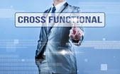 Businessman making decision on cross functional — Stock Photo
