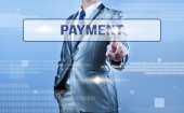 Businessman making decision on payment — Stock Photo