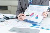 Businessman show report, business performance concept — Stock Photo