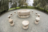 Constantin Brancusi's Table of Silence — Stock Photo