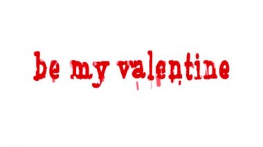 Valentine's day animation background. — Stock Video