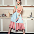 Woman washes the floors. — Stock Photo #59993315