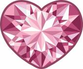 Diamond heart on a white background.  illustration for Your desing. — Stock Photo